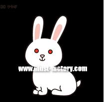 G208-09 ウサギのイラスト