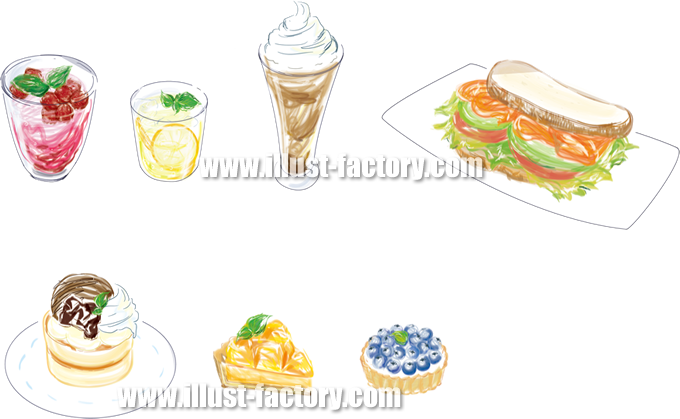 G212 手描き風食べ物イラスト