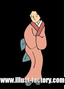 G219-04 江戸風イラスト 町人の女性