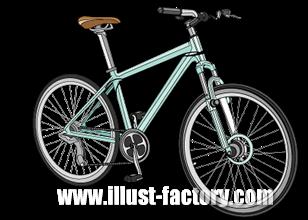 G223-02 自転車のイラスト