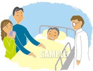 G22-01 病院で息を引き取るイメージイラスト作成例