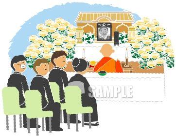 G22-05 葬儀、告別式イメージイラスト作成例