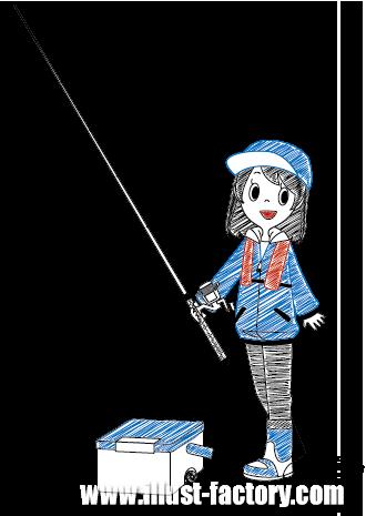G249-01 釣りをする女性