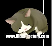 G255-01 猫のイラスト