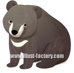 G255-04 熊のイラスト