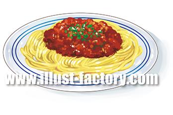 G265-02 ミートソーススパゲティのイラスト