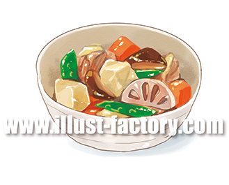 G265-04 煮物のイラスト