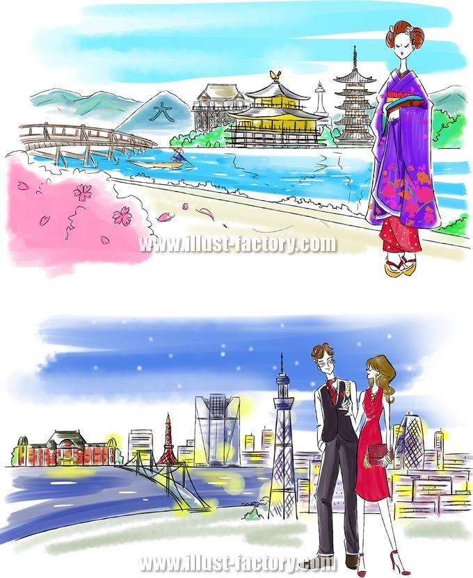 G277 京都と舞妓、東京とアーバンな男女