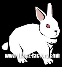 G278-04 版画・切り絵風ウサギのイラスト