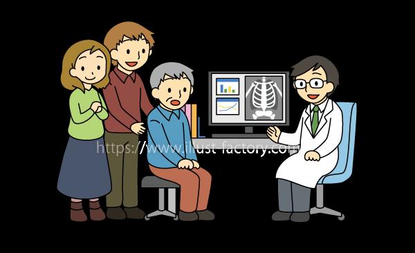 G28-07 家族で病院の診察に付き添うシーン