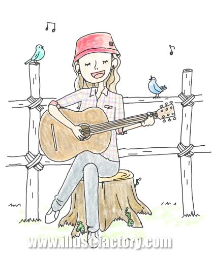 G310-2 歌を歌う女性