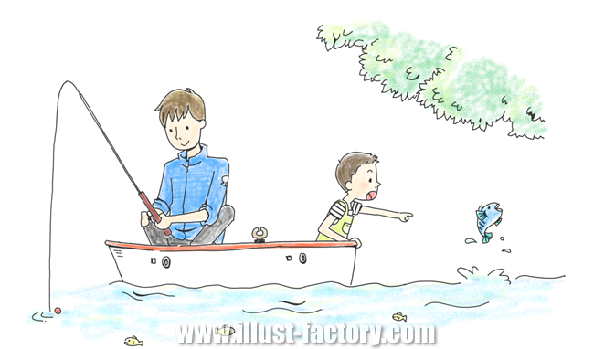 G310-3 釣りをする親子