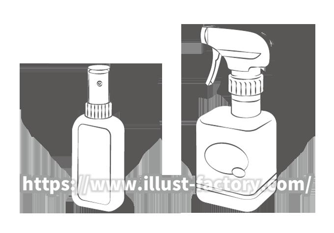 G424-01 日用品のイラスト制作 スプレーボトル