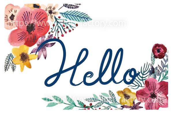 G429-02 華やかな花のイラスト制作~Hello~