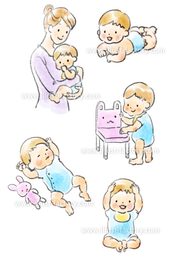 G436-1 赤ちゃんのイラスト制作