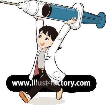 G457-1 注射と女医さんのイラスト制作