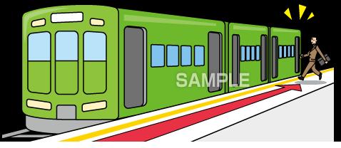 G50-15 電車に乗るイラスト