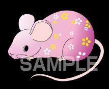 G60-02 干支イラスト ネズミ 子