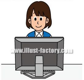 G82-03 ビジネスシーン 女性パソコン操作