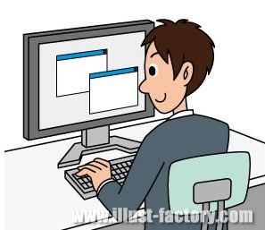G82-02 ビジネスシーン 男性がパソコン操作