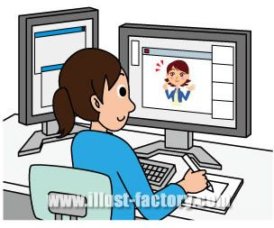 G82-04 ビジネスシーン 女性パソコン操作