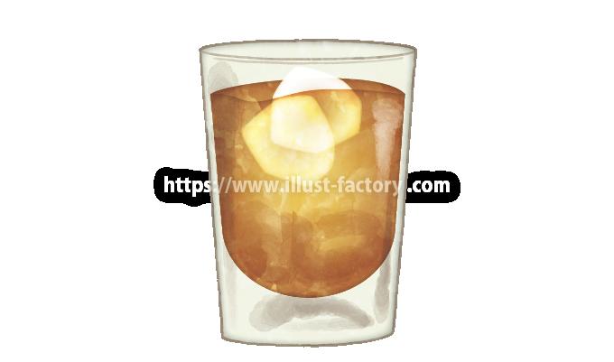 H104-01 水彩風アイスコーヒーのイラスト制作