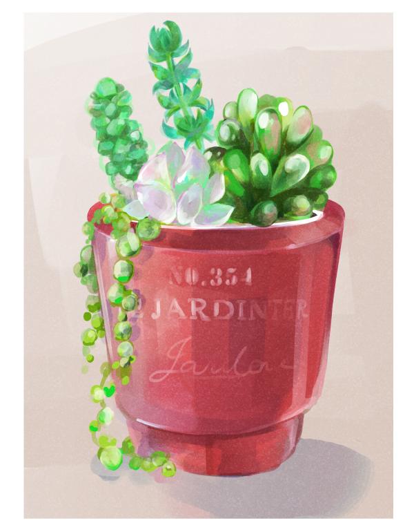 H112 絵画風植物イラスト