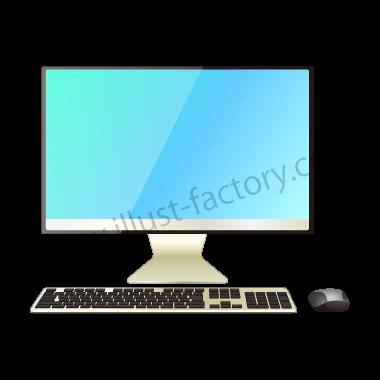 H118-01 リアルタッチイラスト・デスクトップPC