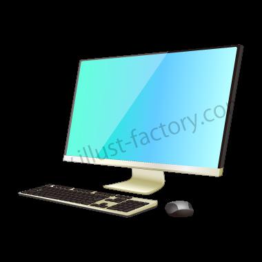H118-02 リアルタッチイラスト・デスクトップPC