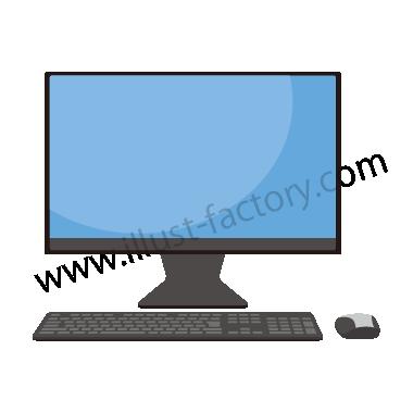 H119-01 シンプルタッチイラスト・デスクトップPC