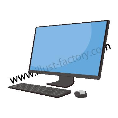 H119-02 シンプルタッチイラスト・デスクトップPC