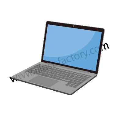 H119-07 シンプルタッチイラスト・ノートPC
