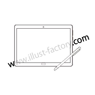 H120-03 線画タッチイラスト・タブレット