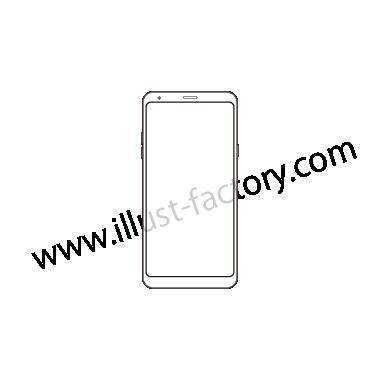 H120-04 線画タッチイラスト・スマートフォン
