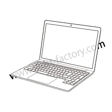 H120-07 線画タッチイラスト・ノートPC