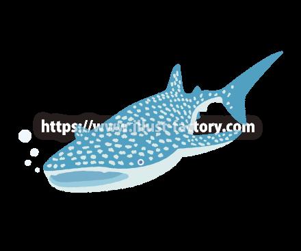 H132-02 かわいらしいタッチの海洋生物イラスト