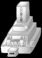 H16-01 墓石のイラスト作成