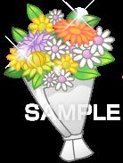 H16-11 花束のイラスト作成