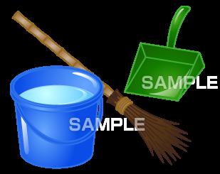 H16-16 掃除道具のイラスト作成