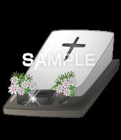 H16-02 墓石のイラスト作成