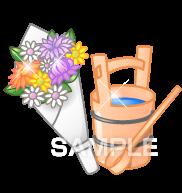 H16-06 花とバケツのイラスト作成