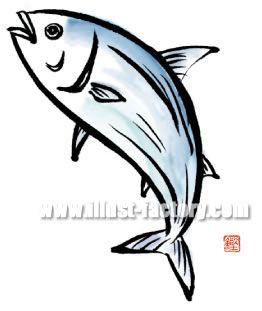 H18-02 魚のイラスト カツオ
