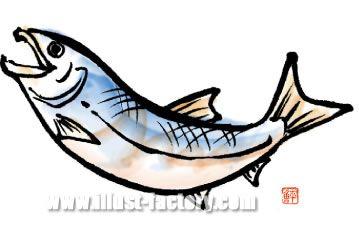 H18-03 魚のイラスト 鮭