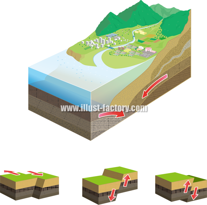 H63 地面の断面図イラスト