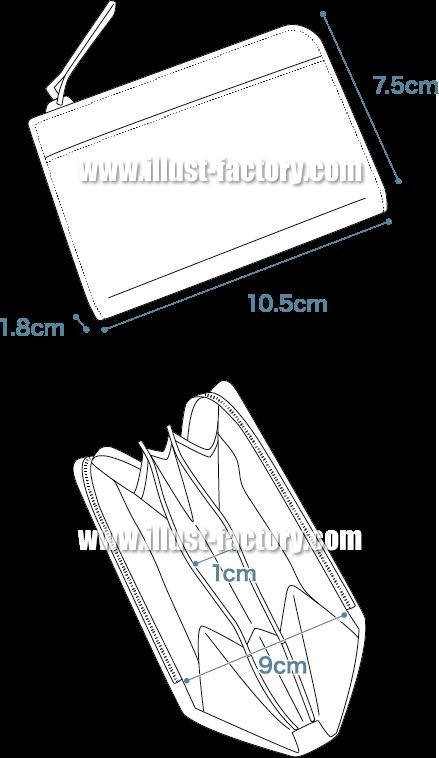 H67 商品説明用線画イラスト制作 財布