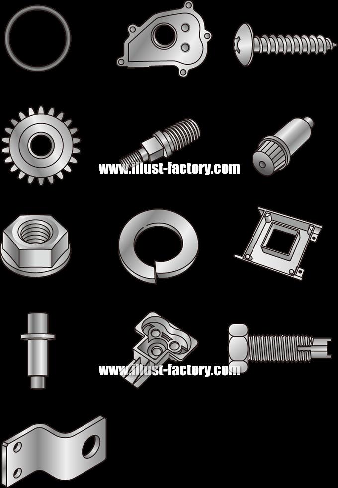 H71 ネジや歯車等工業製品イラスト制作