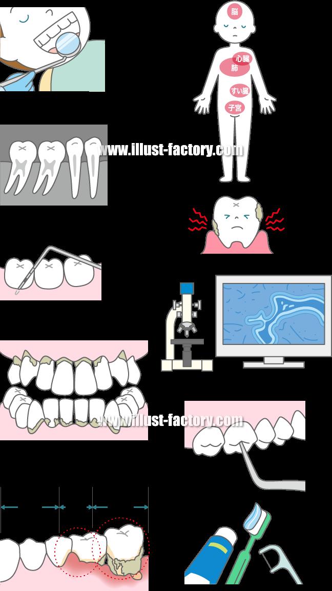 H73 歯科医療関連イラスト制作