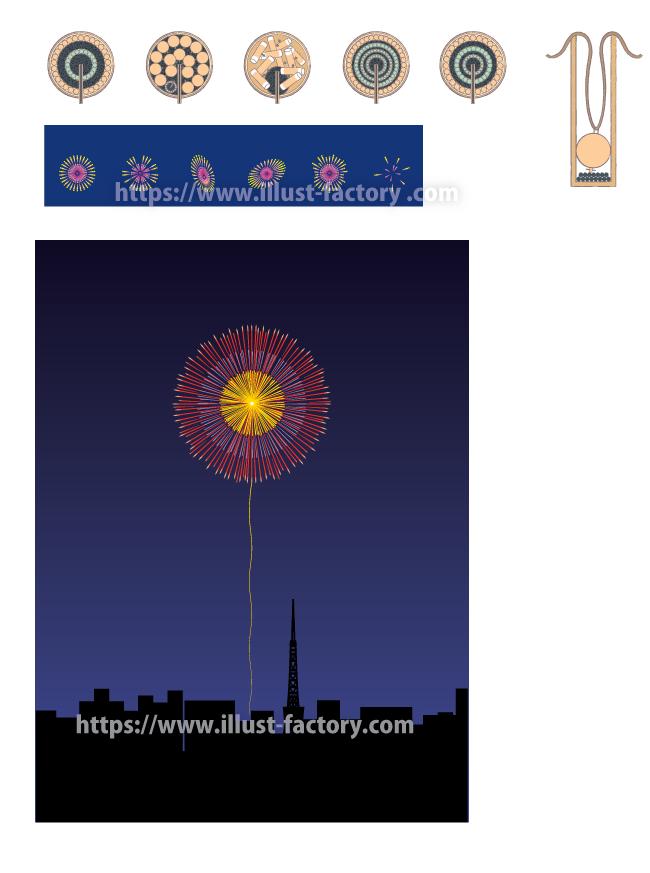 H84 花火のイラスト制作 東京