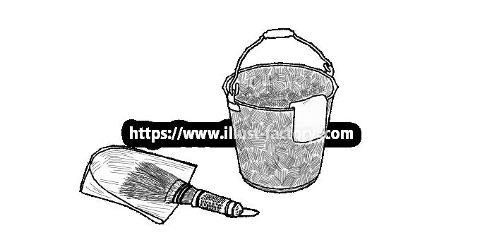 H99-01 掃除道具、はりみ(箕)、折り返しブラシ、バケツ
