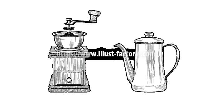 H99-02 コーヒーミル、コーヒードリップポット
